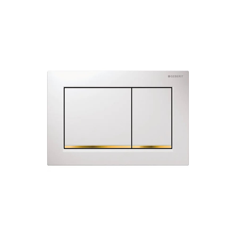 Clapeta de actionare Geberit Omega 30 alb/auriu imagine