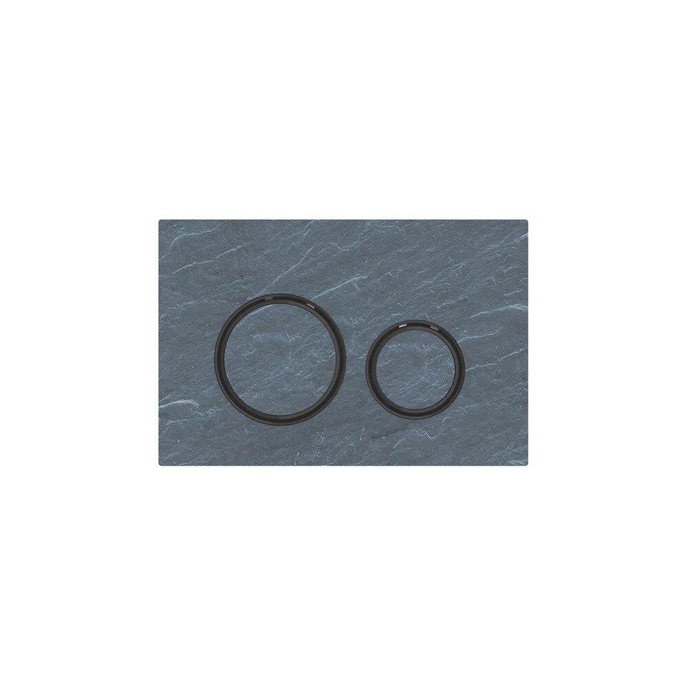 Clapeta de actionare Geberit Sigma 21 ardezie mustang cu inel negru neakaisa.ro