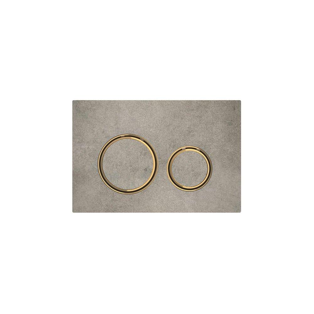 Clapeta de actionare Geberit Sigma 21 aspect beton/inel auriu