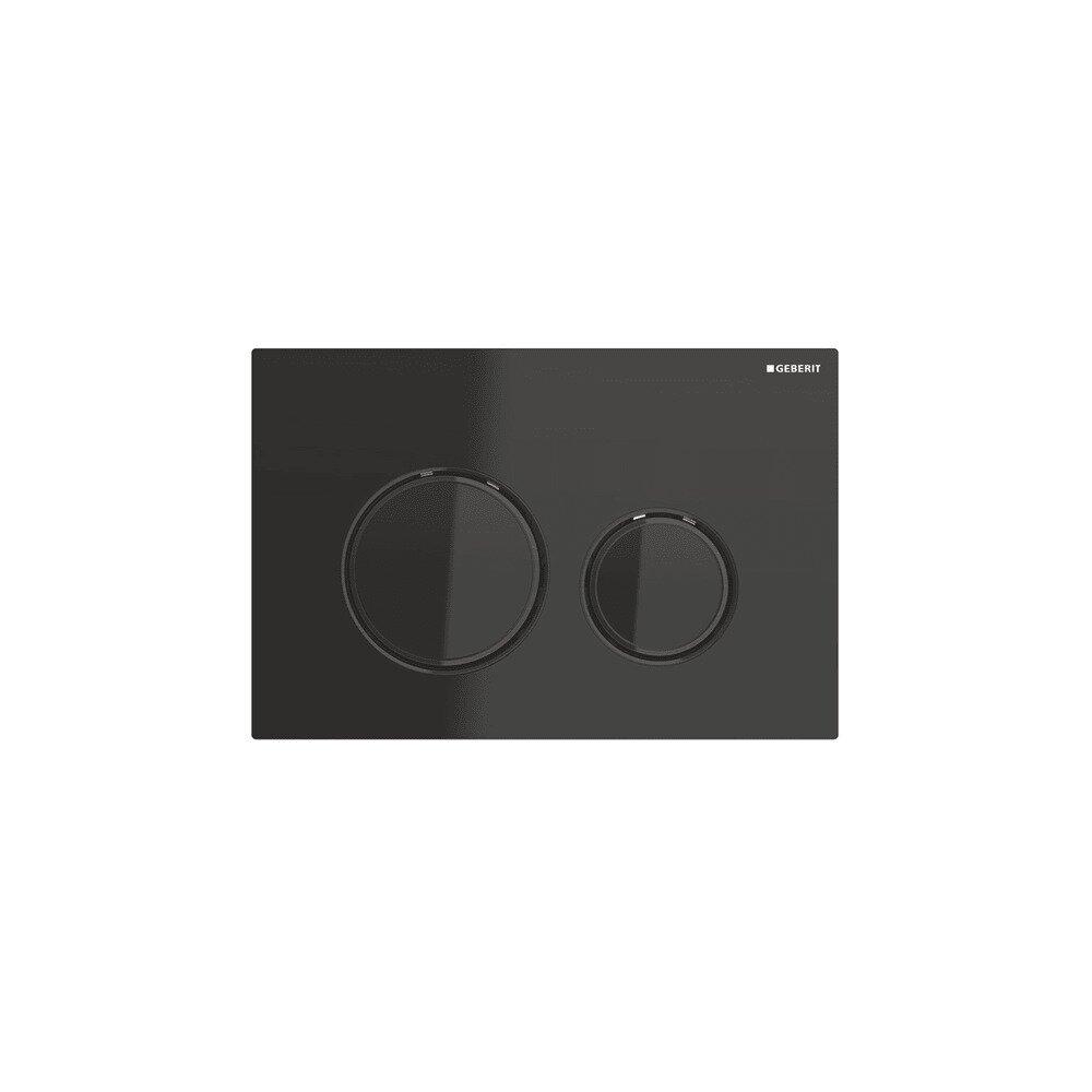 Clapeta de actionare Geberit Sigma 21 negru/inel negru imagine