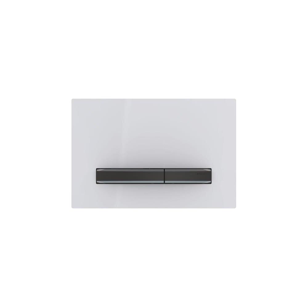 Clapeta de actionare Geberit Sigma 50 alb/butoane negru mat imagine