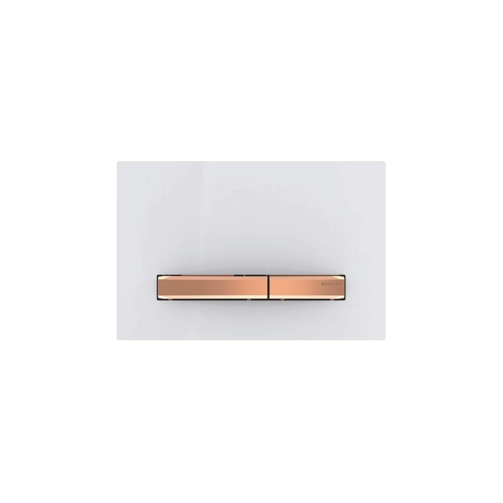Clapeta de actionare Geberit Sigma 50 alb/butoane rose gold imagine