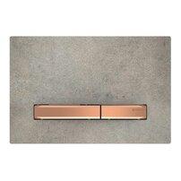 Clapeta de actionare Geberit Sigma 50 aspect de beton/butoane rose gold