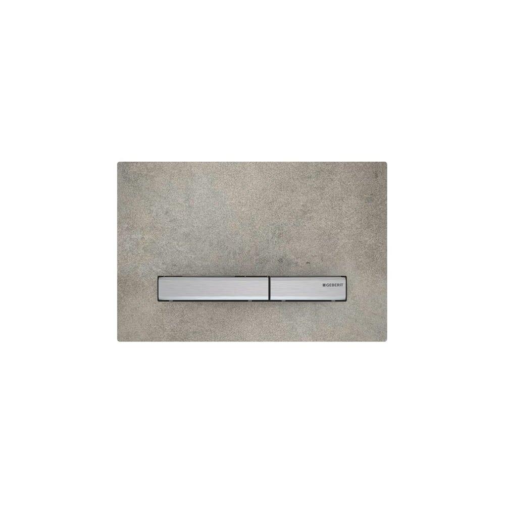 Clapeta de actionare Geberit Sigma 50 aspect de beton/ clape crom