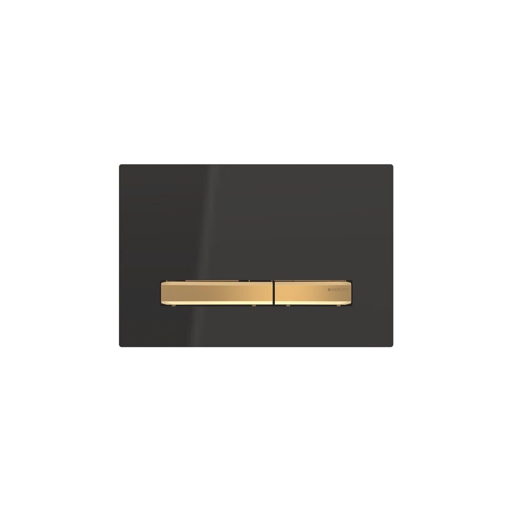 Clapeta de actionare Geberit Sigma 50 negru/butoane aurii imagine