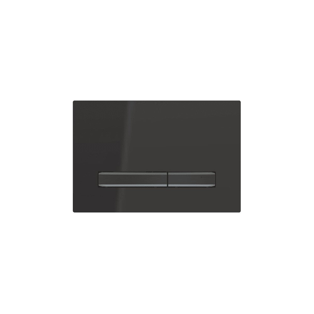 Clapeta de actionare Geberit Sigma 50 negru/butoane negru mat imagine