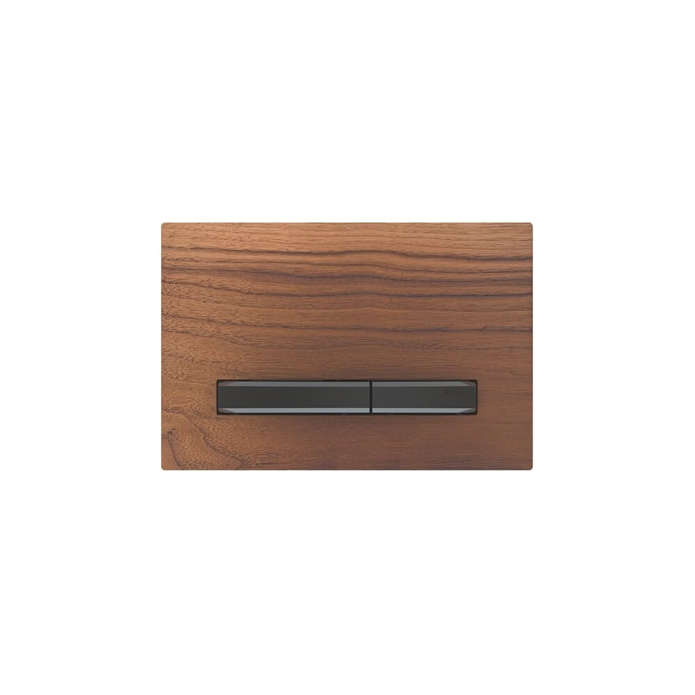 Clapeta de actionare Geberit Sigma 50 nuc american/butoane negru mat imagine