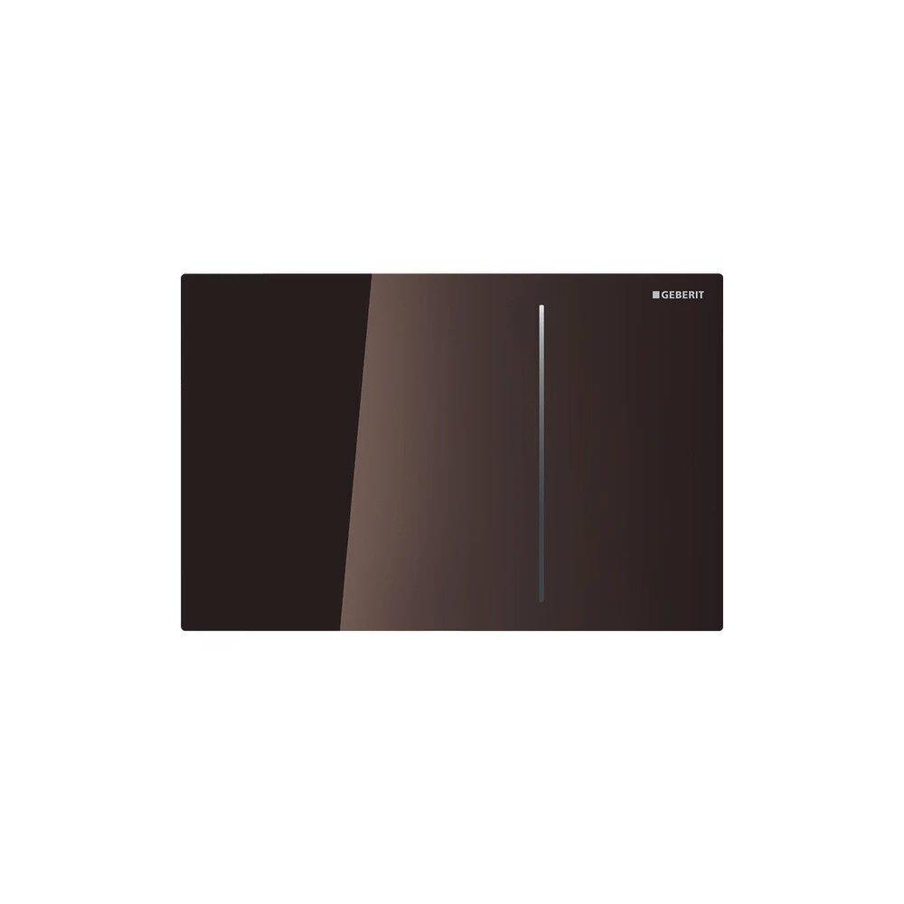Clapeta de actionare Geberit Sigma 70 pentru rezervor 8 cm, sticla maro lucios cu actionare hidraulica imagine neakaisa.ro