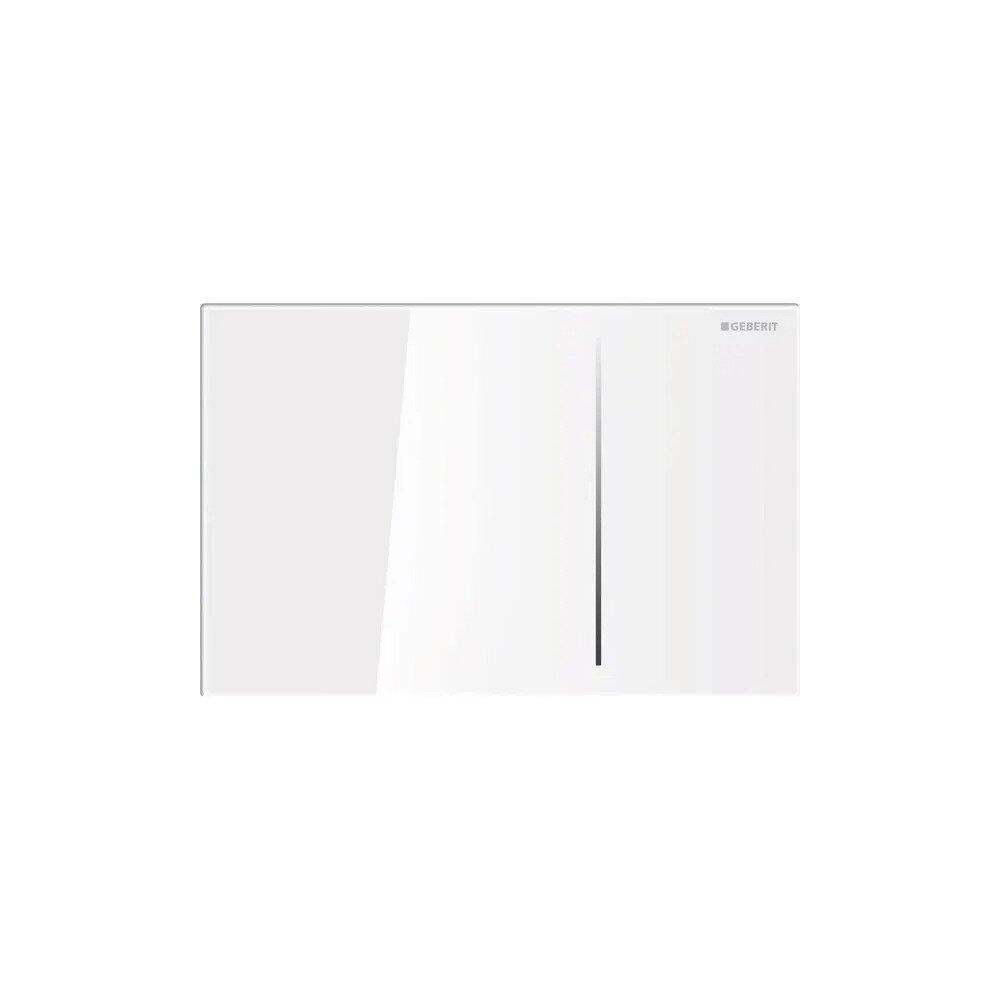 Clapeta de actionare Geberit Sigma 70 sticla alb lucios cu actionare hidraulica imagine