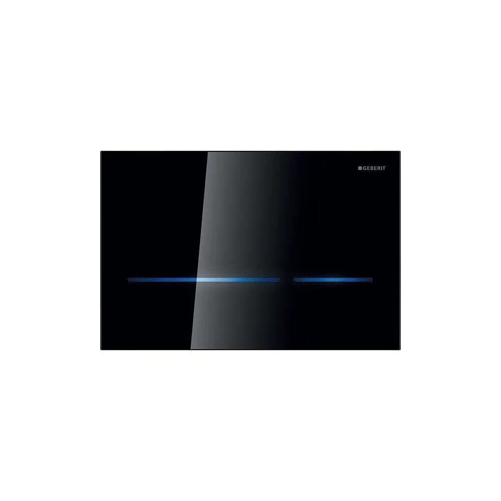 Clapeta electronica Geberit Sigma80 negru pentru rezervor cu grosimea 8 cm imagine