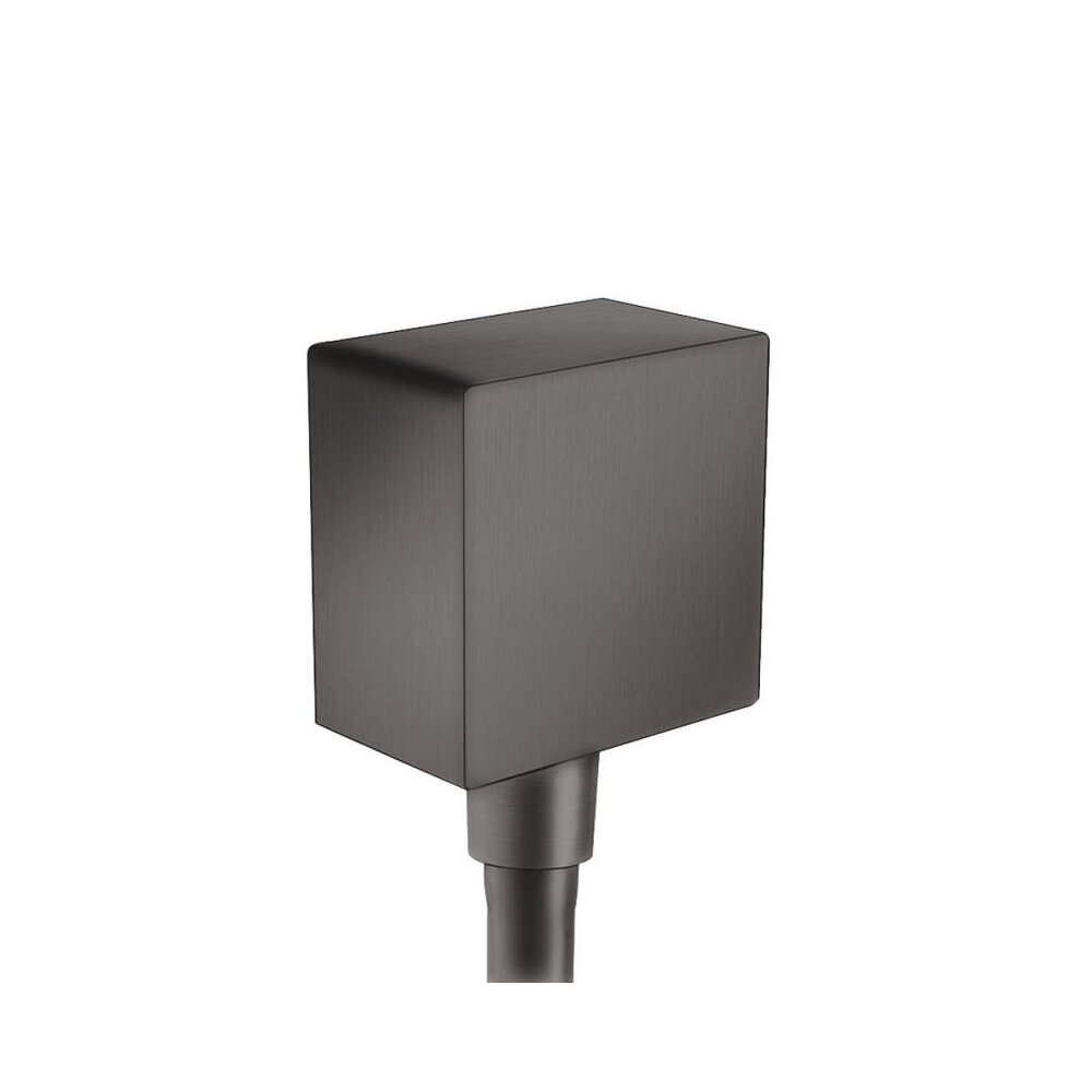 Conector dus Hansgrohe FixFit Square negru periat imagine