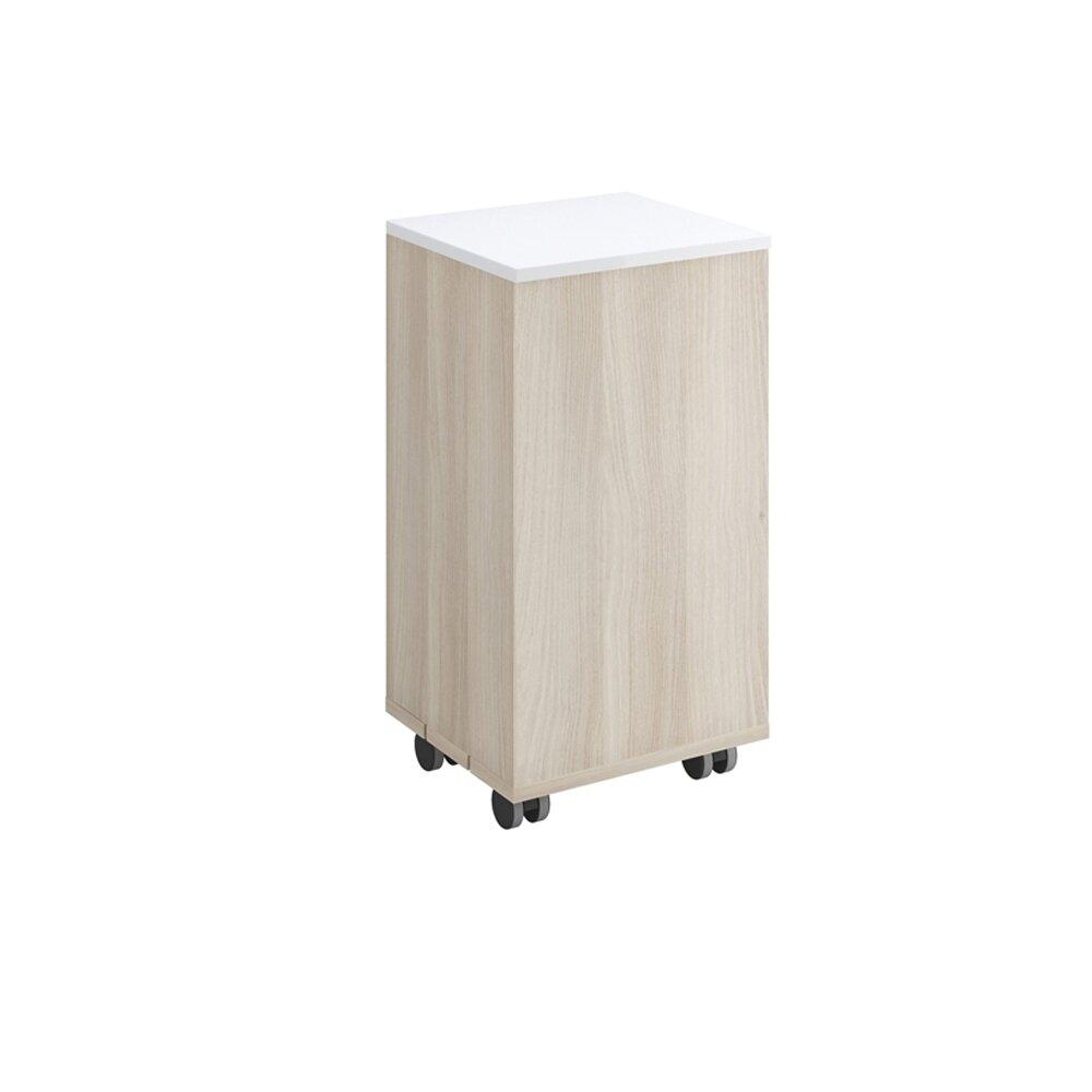Cos pentru rufe Cersanit Smart cu capac alb 60 cm imagine