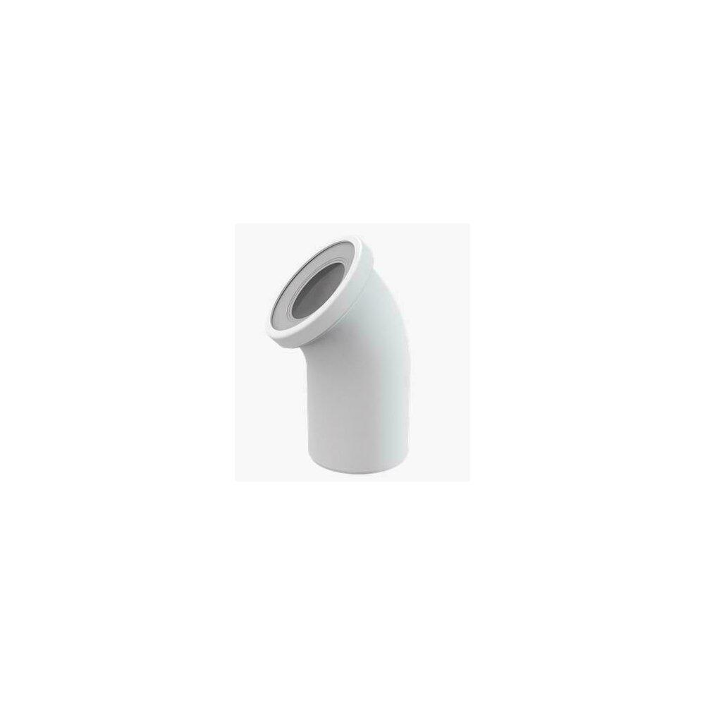 Cot wc/conector 45 grade A90-45 Alcaplast poza