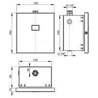 Dispozitiv de clatire automata a pisoarului 12 V Alcaplast ASP4-K