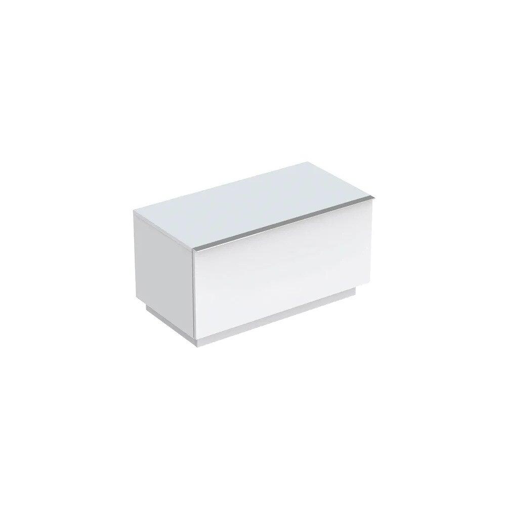 Dulap baie pe pardoseala alb mat Geberit Icon 1 sertar 89 cm poza