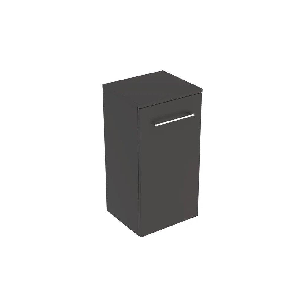 Dulap baie suspendat pentru lavoar Geberit Selnova Square negru 1 usa 33 cm neakaisa.ro