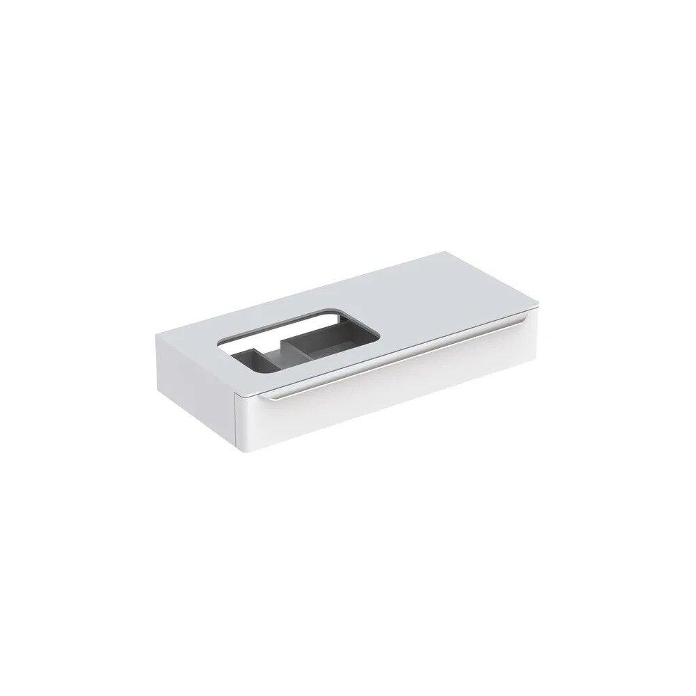 Dulap baza pentru lavoar incorporat stanga suspendat alb Geberit Myday 1 sertar 115 cm neakaisa.ro