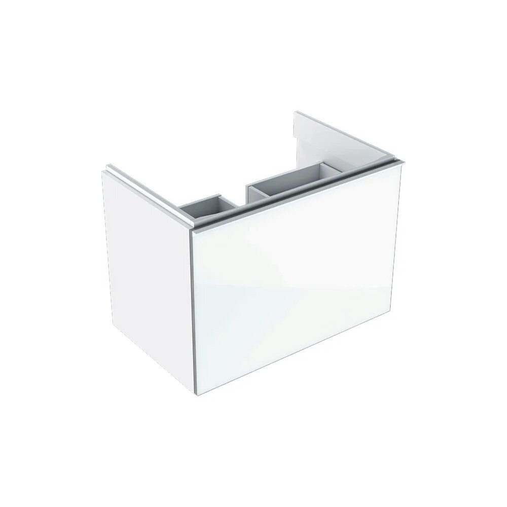 Dulap baza pentru lavoar suspendat alb Geberit Acanto 1 sertar 74 cm neakaisa.ro