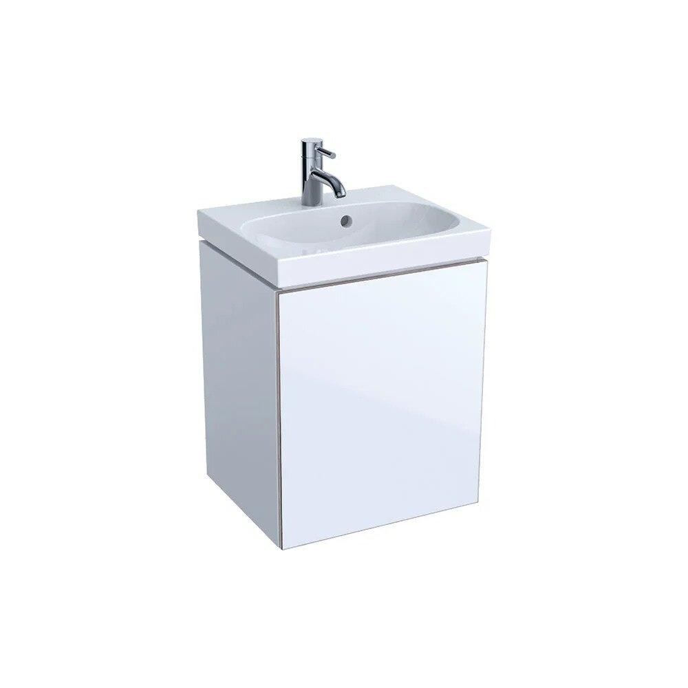 Dulap baza pentru lavoar suspendat alb Geberit Acanto 1 usa 45 cm imagine