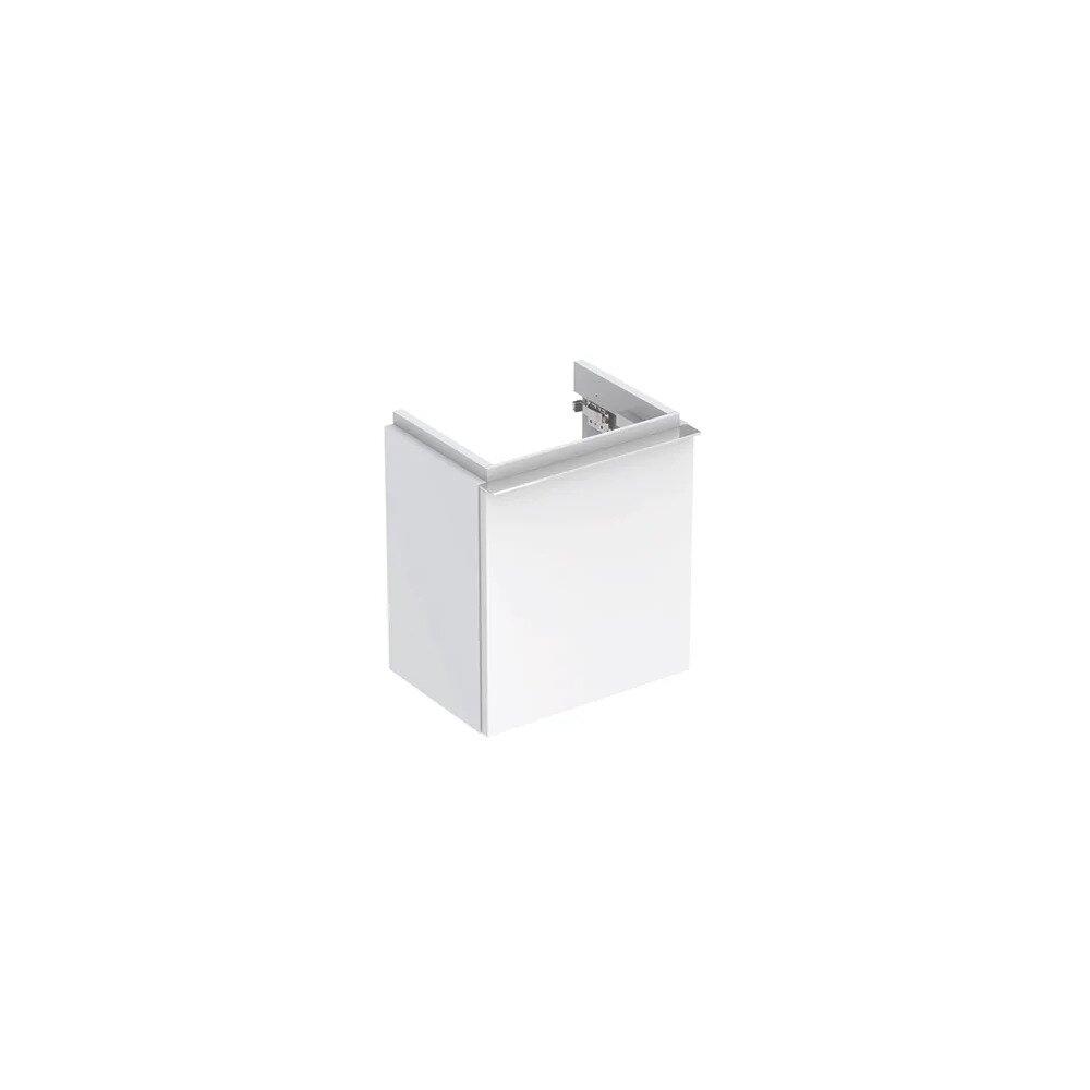 Dulap baza pentru lavoar suspendat alb lucios Geberit Icon 1 usa opritor dreapta 37 cm imagine