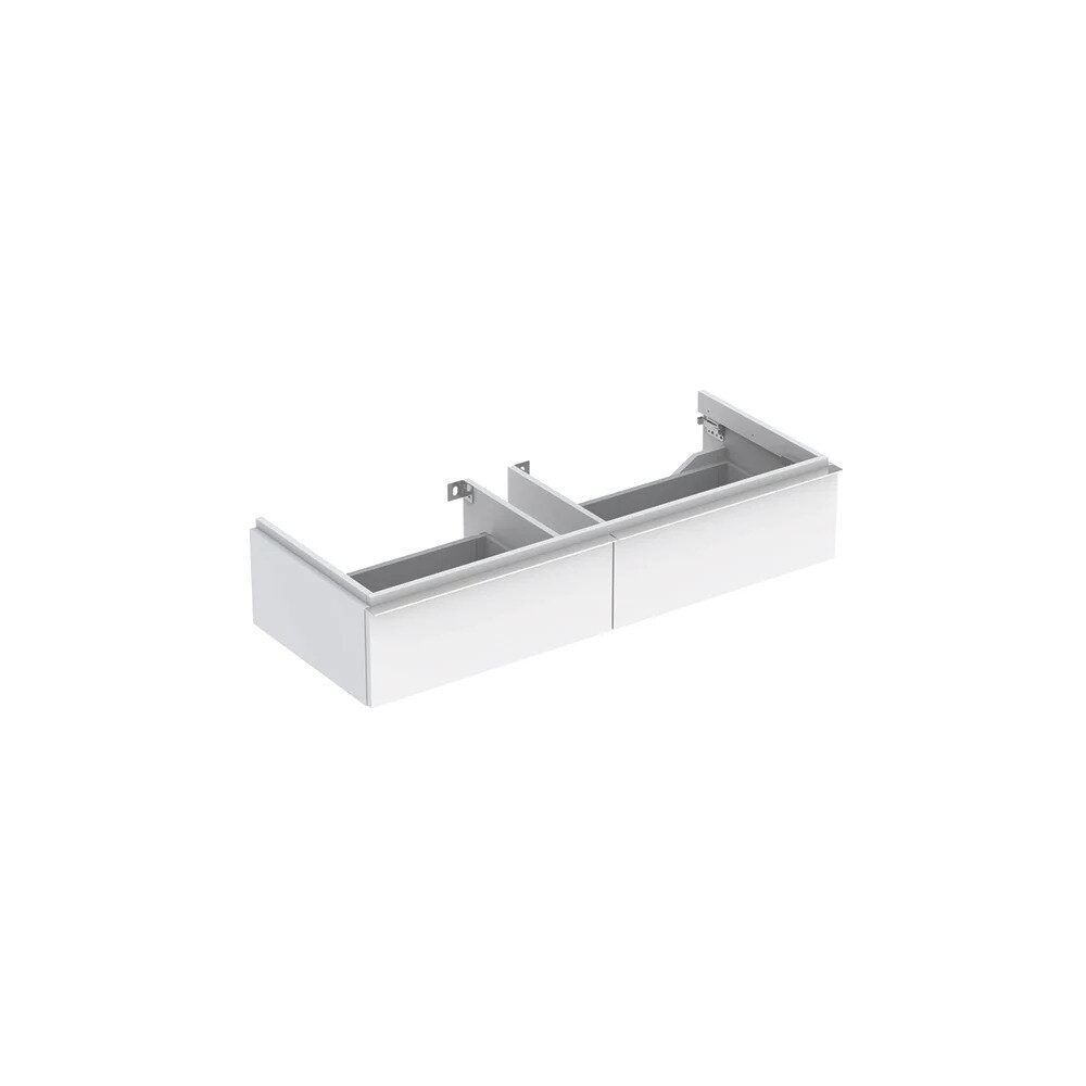 Dulap baza pentru lavoar suspendat alb lucios Geberit Icon 2 sertare 119 cm