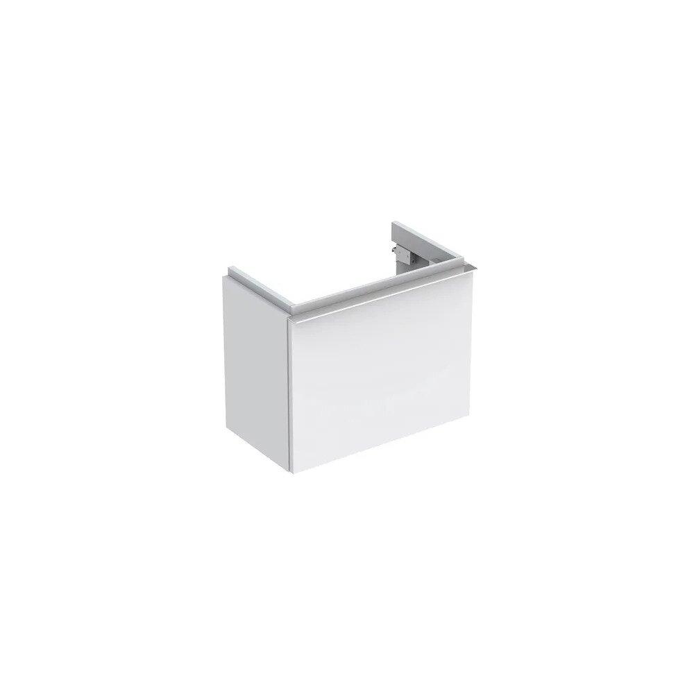 Dulap baza pentru lavoar suspendat alb mat Geberit Icon 1 sertar 52 cm