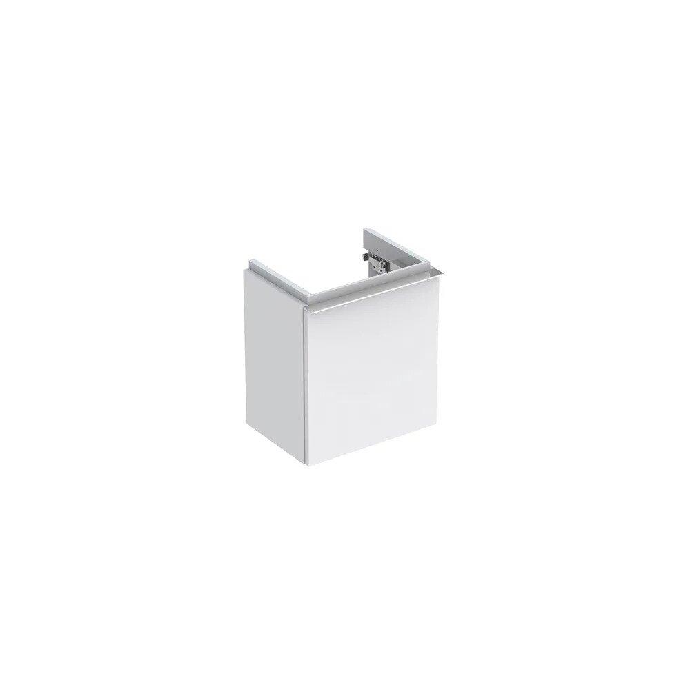 Dulap baza pentru lavoar suspendat alb mat Geberit Icon 1 usa opritor stanga 37 cm imagine neakaisa.ro