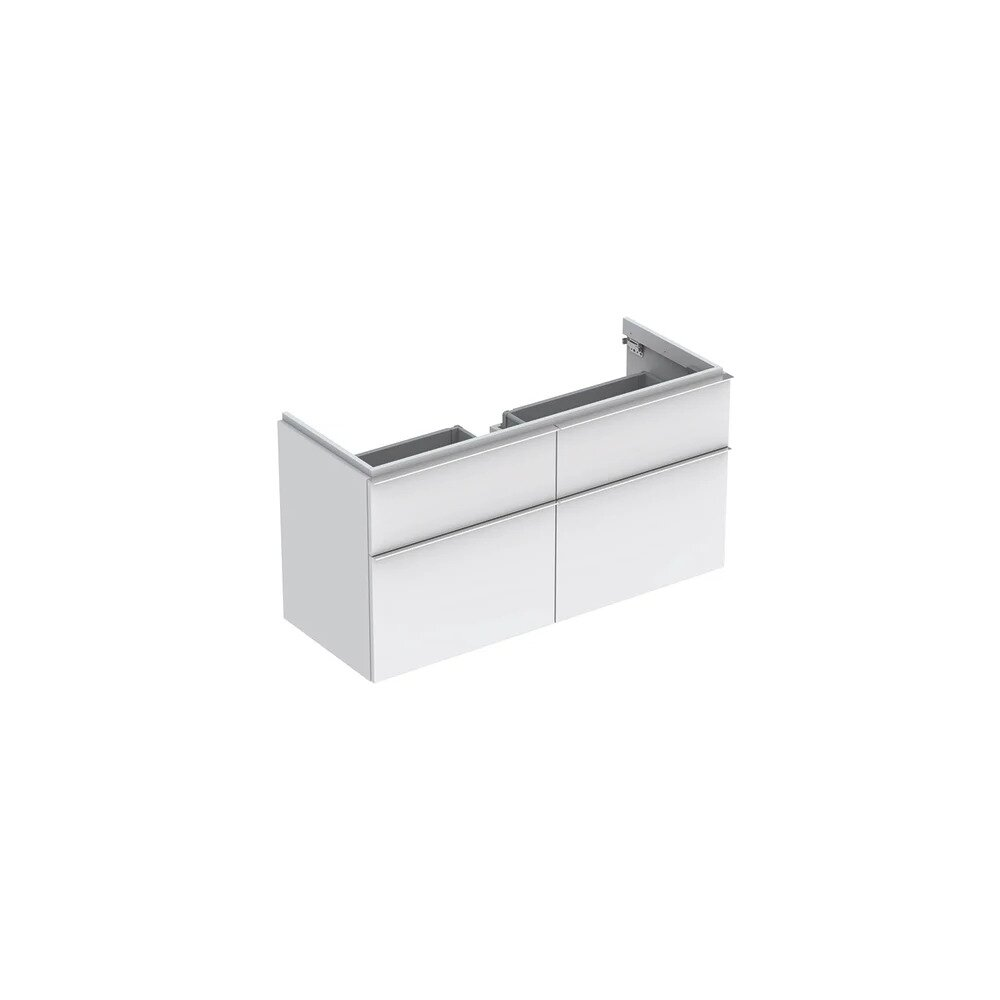 Dulap baza pentru lavoar suspendat alb mat Geberit Icon 4 sertare 119 cm imagine