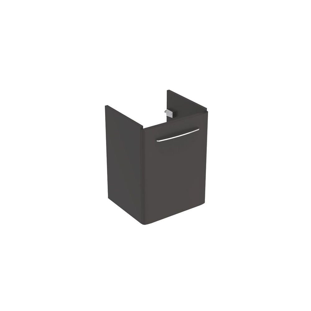 Dulap baza pentru lavoar suspendat Geberit Selnova Square negru 1 usa 50 cm imagine