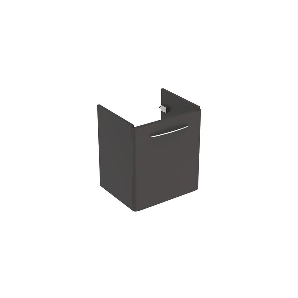 Dulap baza pentru lavoar suspendat Geberit Selnova Square negru 1 usa 60 cm imagine