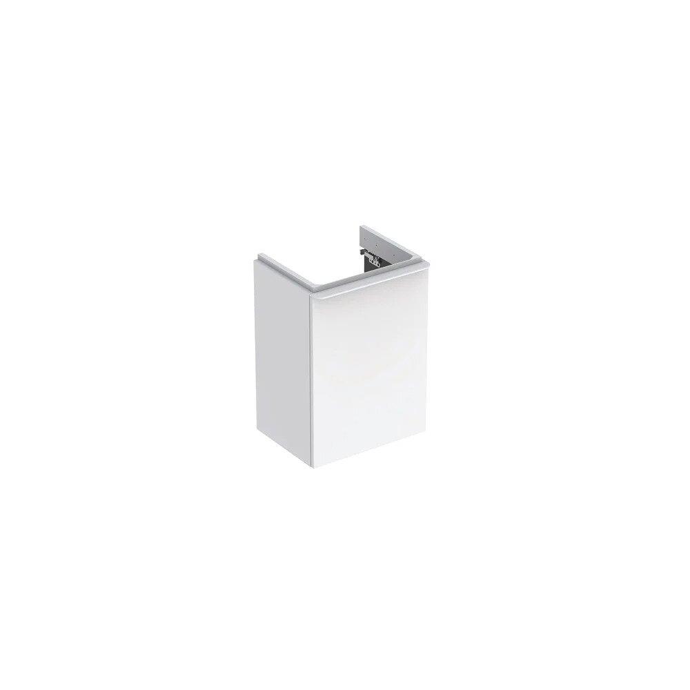 Dulap baza pentru lavoar suspendat Geberit Smyle Square alb 1 usa opritor dreapta 45 cm neakaisa.ro