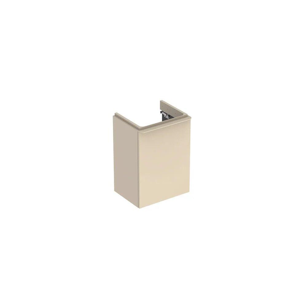 Dulap baza pentru lavoar suspendat Geberit Smyle Square gri nisip 1 usa opritor dreapta 45 cm imagine