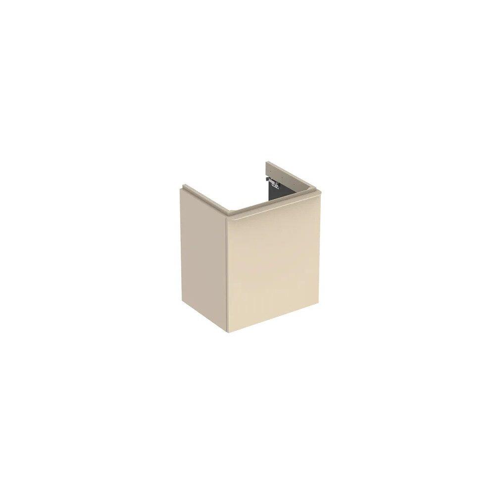 Dulap baza pentru lavoar suspendat Geberit Smyle Square gri nisip 1 usa opritor dreapta 54 cm