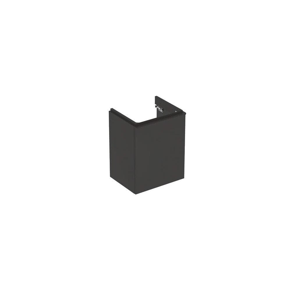 Dulap baza pentru lavoar suspendat Geberit Smyle Square negru 1 usa opritor stanga 50 cm imagine