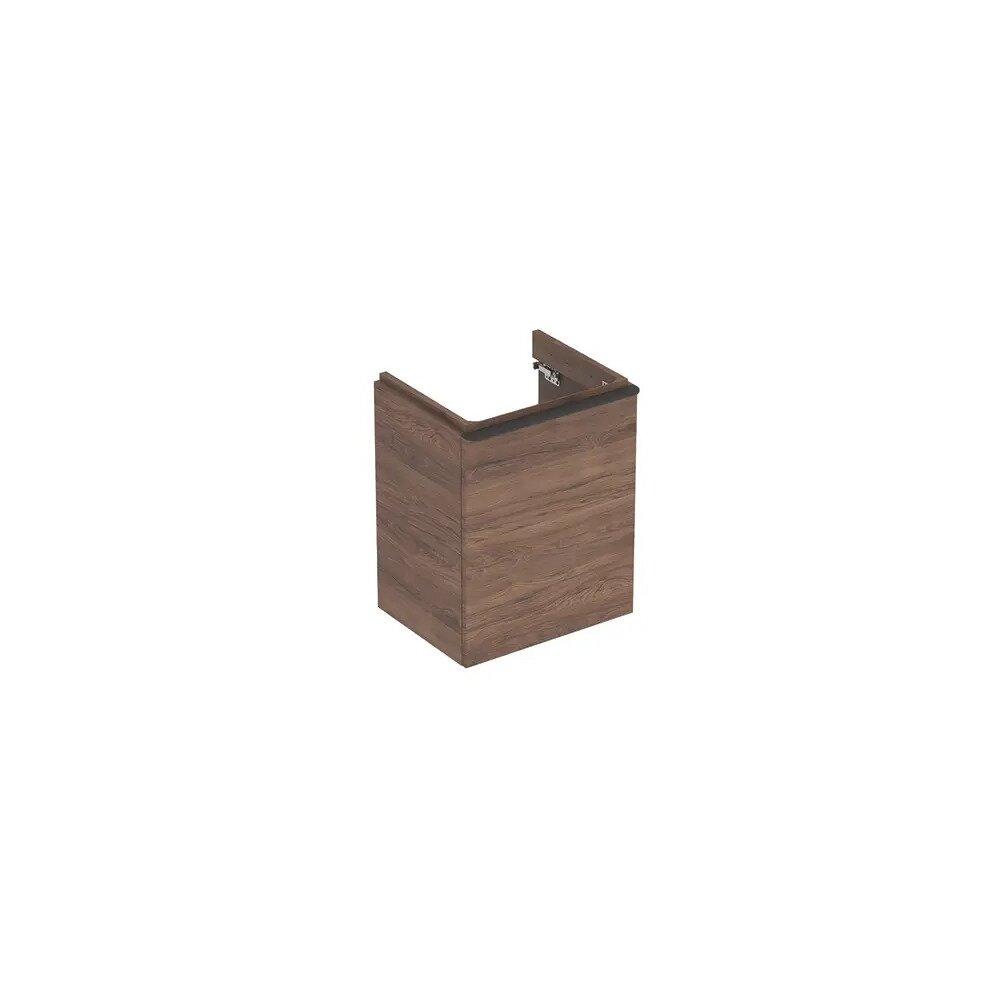 Dulap baza pentru lavoar suspendat Geberit Smyle Square nuc 1 usa opritor dreapta 50 cm imagine