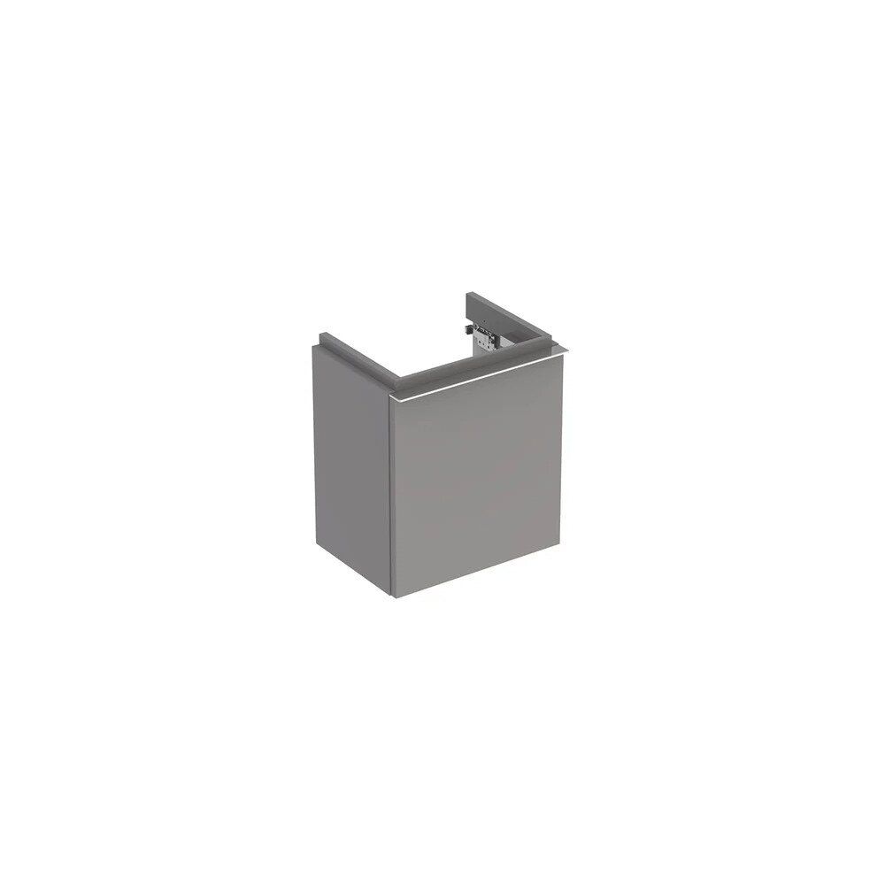 Dulap baza pentru lavoar suspendat gri Geberit Icon 1 usa opritor stanga 37 cm imagine