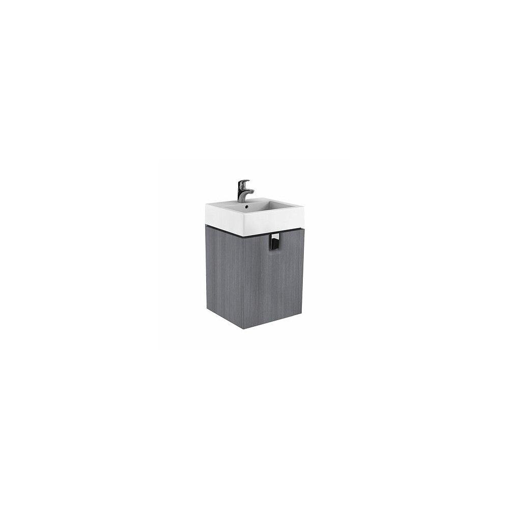 Dulap baza pentru lavoar suspendat Kolo Twins 50 cm, gri argintiu, 1 sertar poza