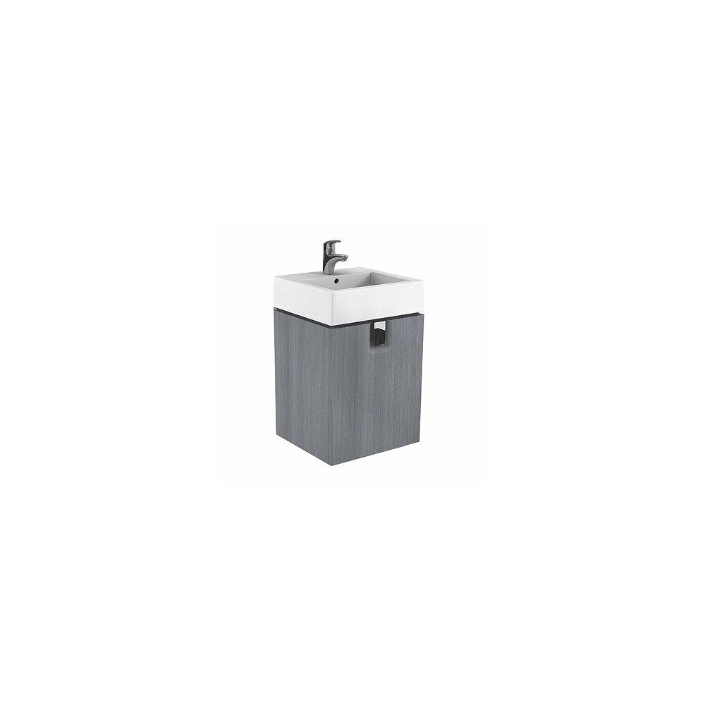 Dulap baza pentru lavoar suspendat Kolo Twins 50 cm, gri argintiu imagine