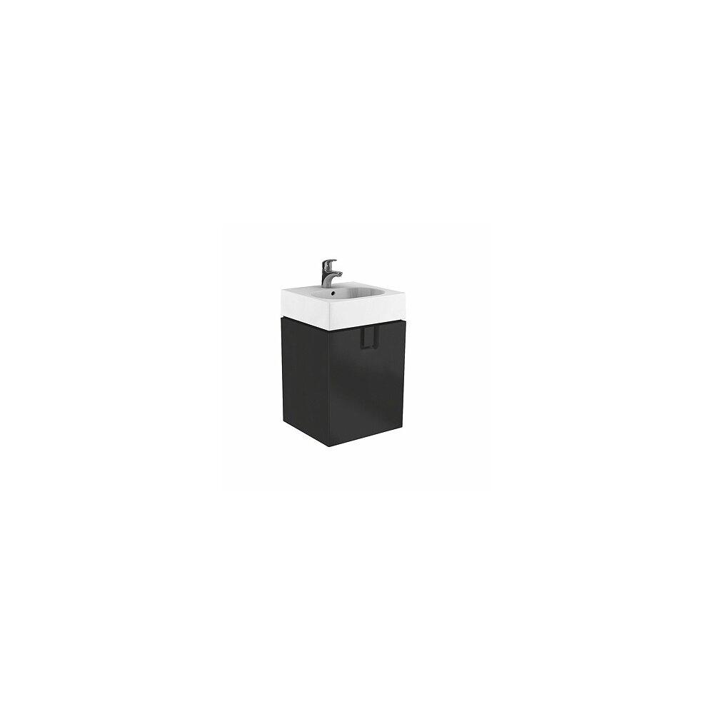 Dulap baza pentru lavoar suspendat Kolo Twins 60 cm, negru mat imagine