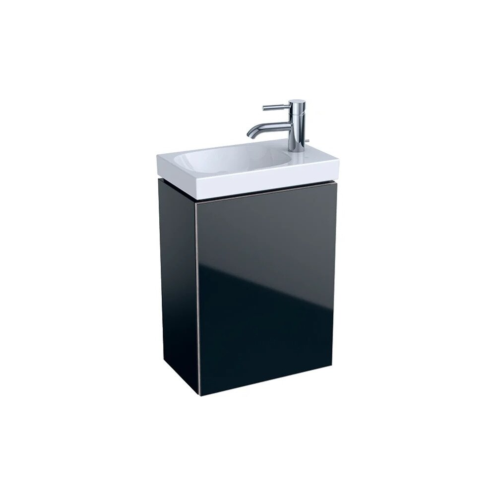 Dulap baza pentru lavoar suspendat negru Geberit Acanto 1 usa 40 cm imagine