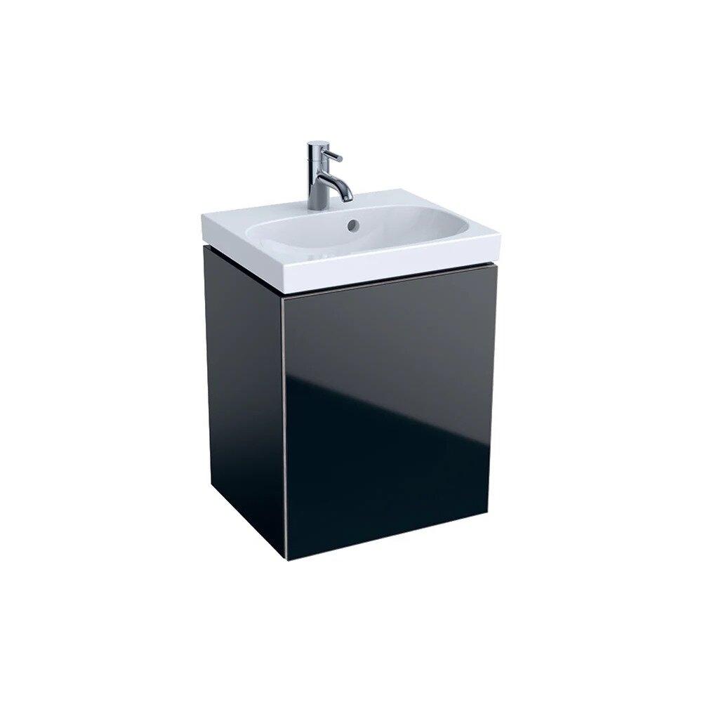 Dulap baza pentru lavoar suspendat negru Geberit Acanto 1 usa 45 cm imagine