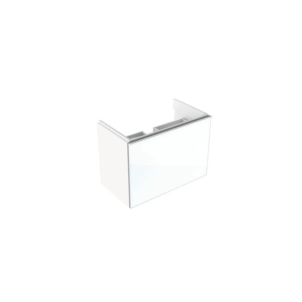Dulap baza pentru lavoar suspendat proiectie mica alb Geberit Acanto 1 sertar 74 cm imagine