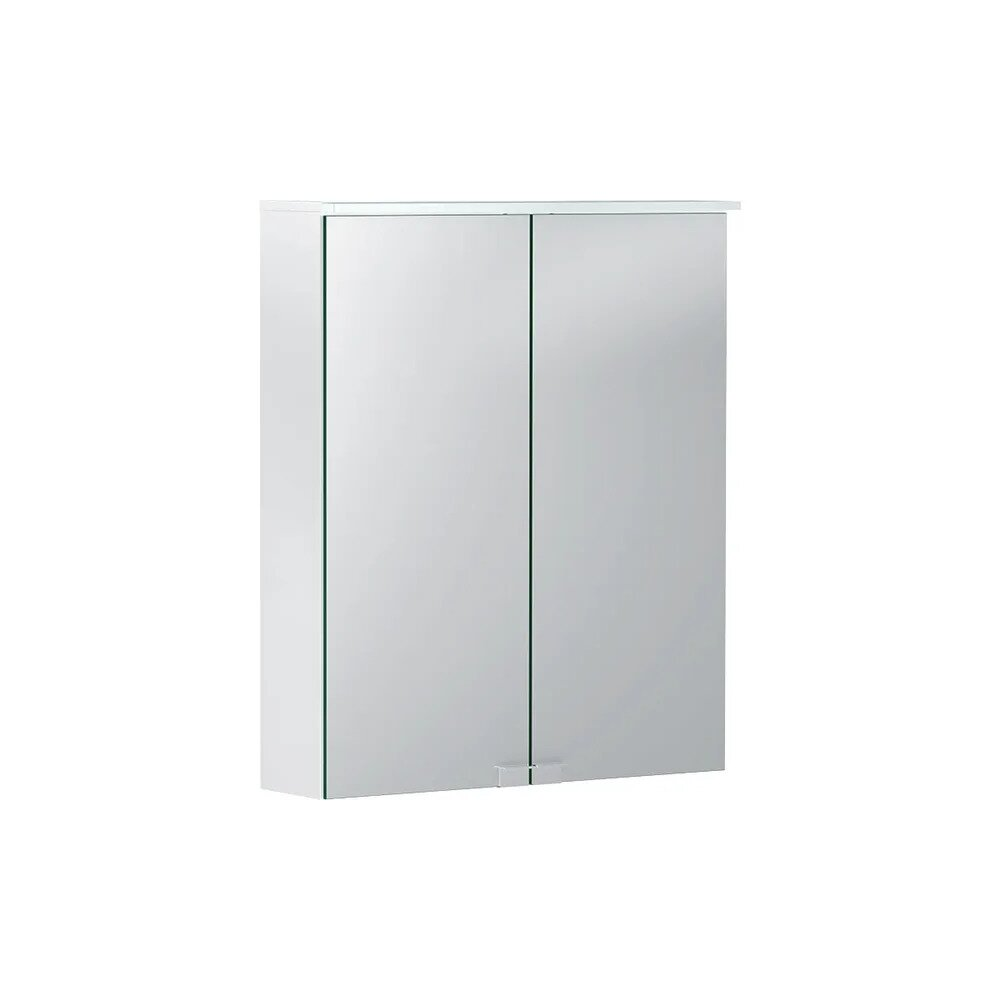 Dulap cu oglinda suspendat Geberit Option Basic alb mat 56 cm neakaisa.ro