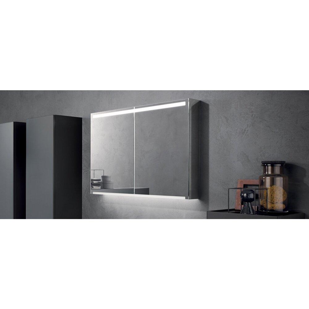 Dulap cu oglinda suspendat Geberit Option Plus reflectorizant 2 usi 75 cm imagine neakaisa.ro