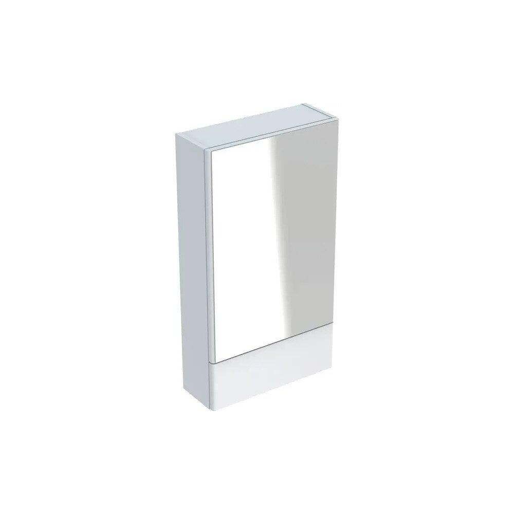 Dulap cu oglinda suspendat Geberit Selnova Square alb 1 usa simpla 1 usa rabatabila 47 cm neakaisa.ro