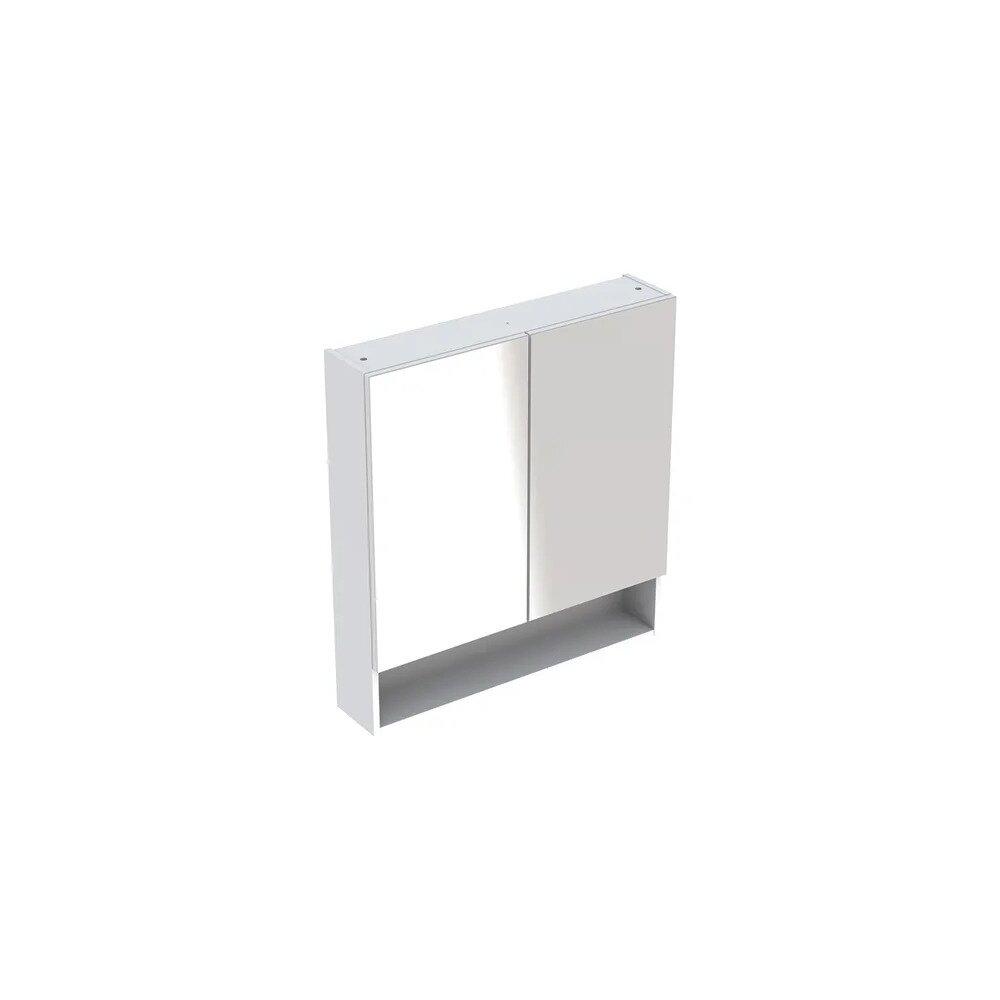 Dulap cu oglinda suspendat Geberit Selnova Square alb 2 usi 79 cm imagine neakaisa.ro