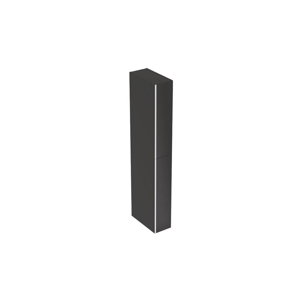 Dulap inalt suspendat negru Geberit Acanto 2 sertare 22 cm neakaisa.ro