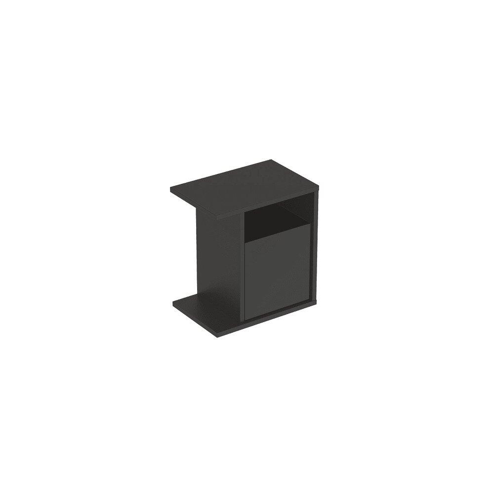 Dulap lateral suspendat negru Geberit Icon adancime 25 cm neakaisa.ro