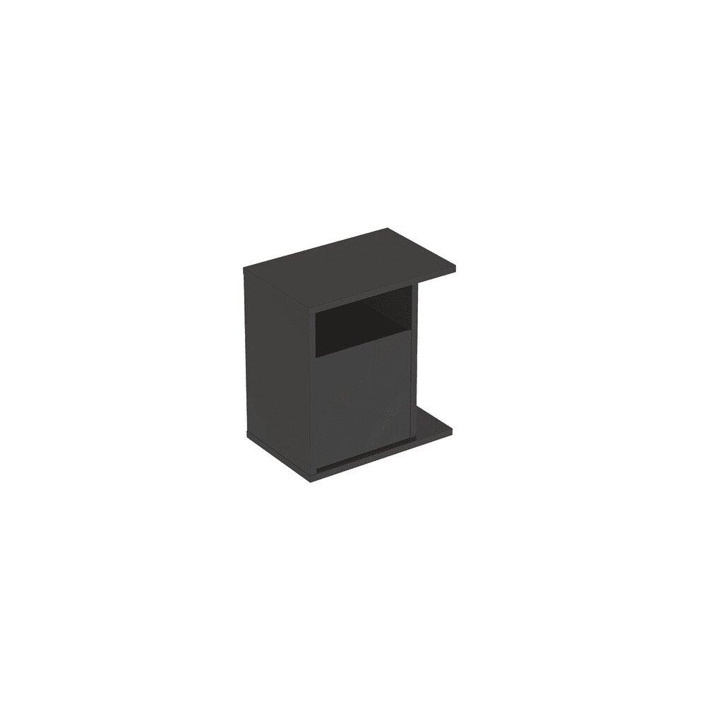 Dulap lateral suspendat negru Geberit Icon adancime 28 cm neakaisa.ro