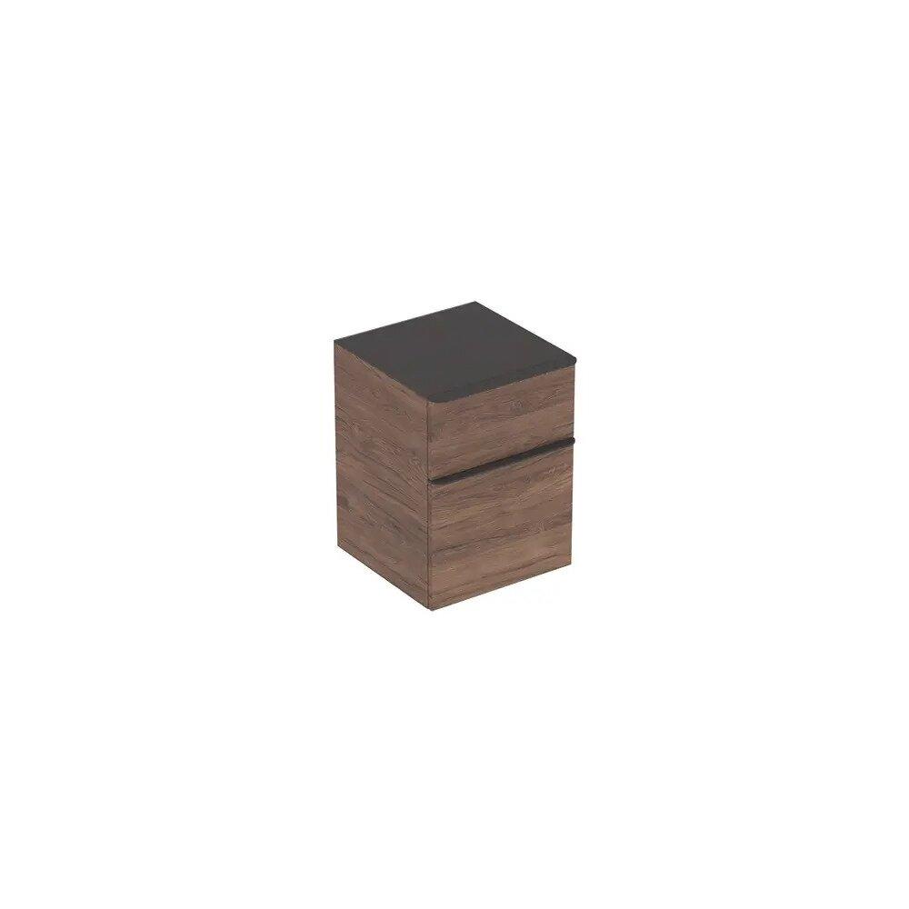 Dulap mic suspendat Geberit Smyle Square nuc 2 sertare 45 cm imagine neakaisa.ro